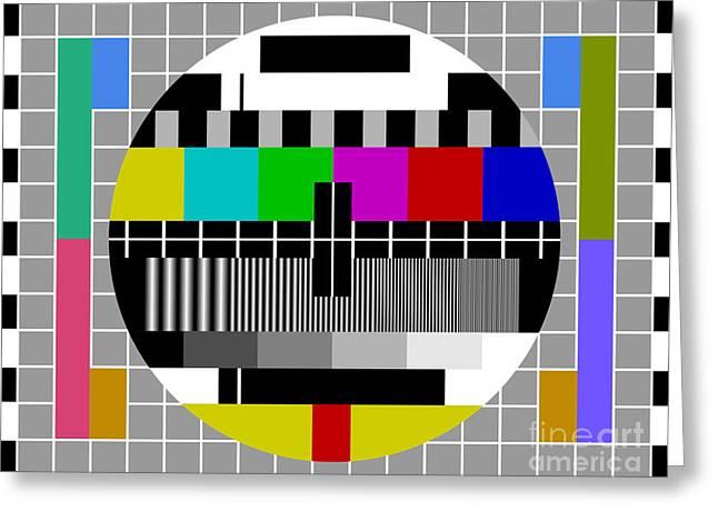 Pal Tv Test Signal Greeting Card