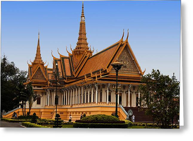 Palace At Phnom Phen Greeting Card