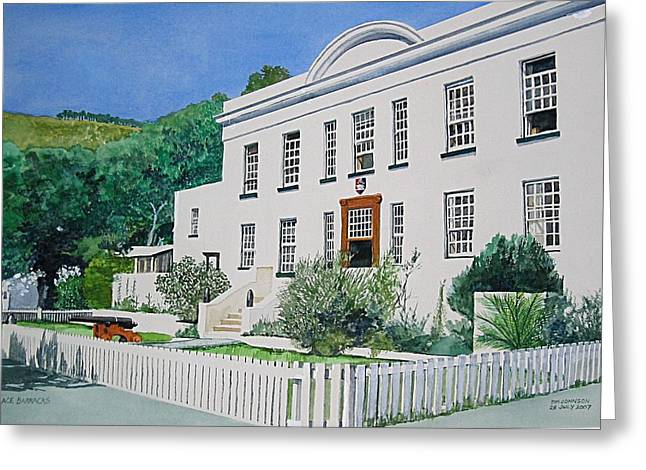 Greeting Card featuring the painting Palace Barracks by Tim Johnson