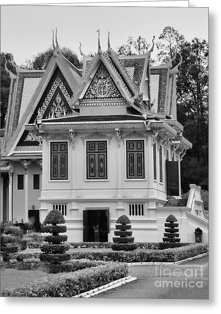 Palace Black White  Greeting Card