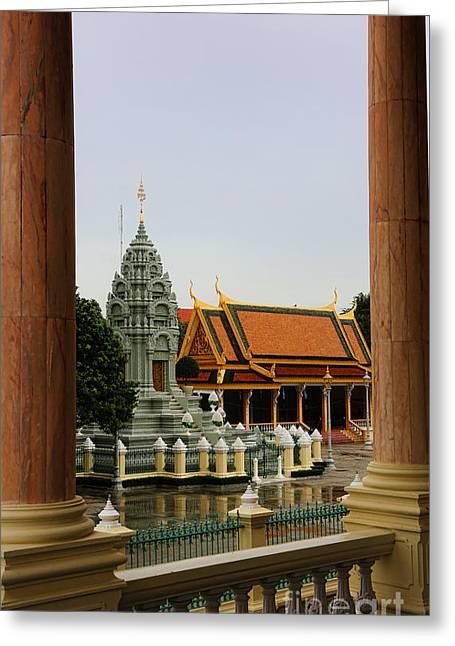 Palace Courtyard I Greeting Card