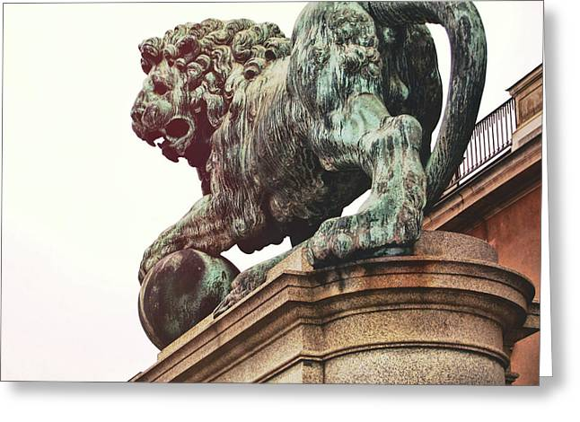 Palace Lion Greeting Card by JAMART Photography
