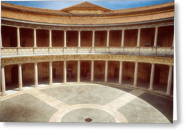Palace Of Charles V Granada Greeting Card