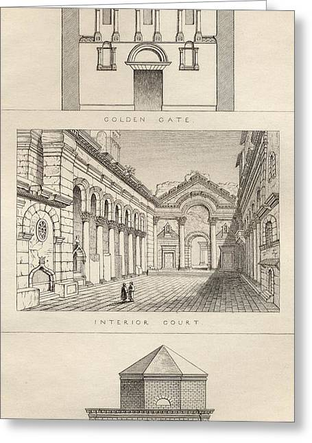 Palace Of Diocletian, 3rd Greeting Card by Vintage Design Pics