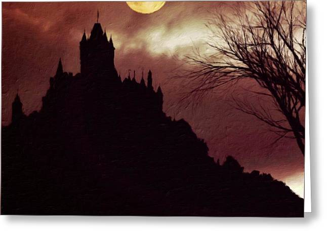 Palace Of Dracula By Sarah Kirk Greeting Card by Sarah Kirk
