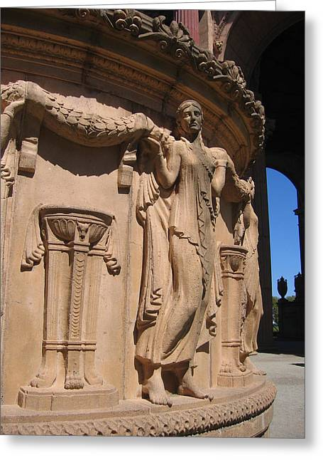 Palace Of Fine Arts Maiden In San Francisco Greeting Card