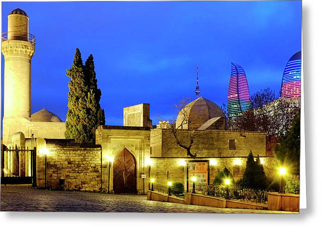 Greeting Card featuring the photograph Palace Of The Shirvanshahs by Fabrizio Troiani
