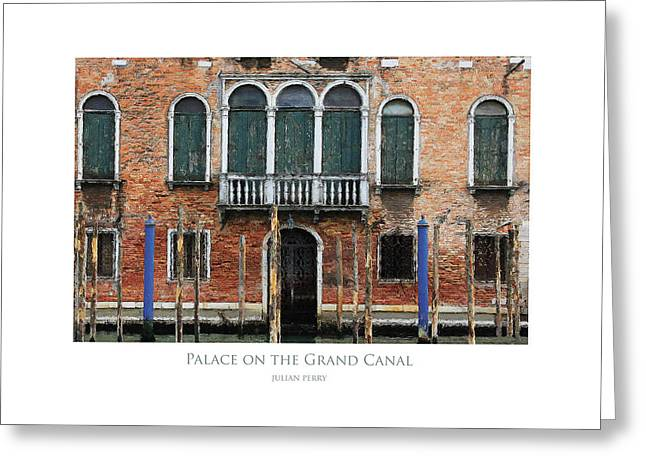 Palace On The Grand Canal Greeting Card