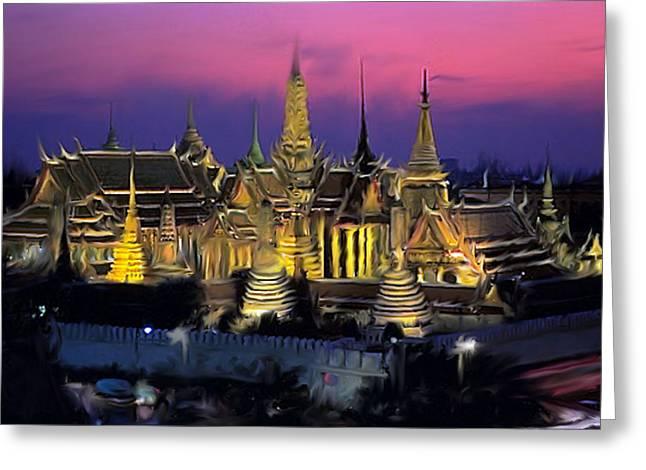 Palace Greeting Card by Robert Bewick