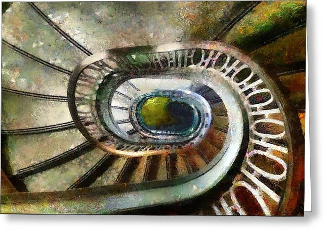 Palace Stairs Greeting Card by RC deWinter