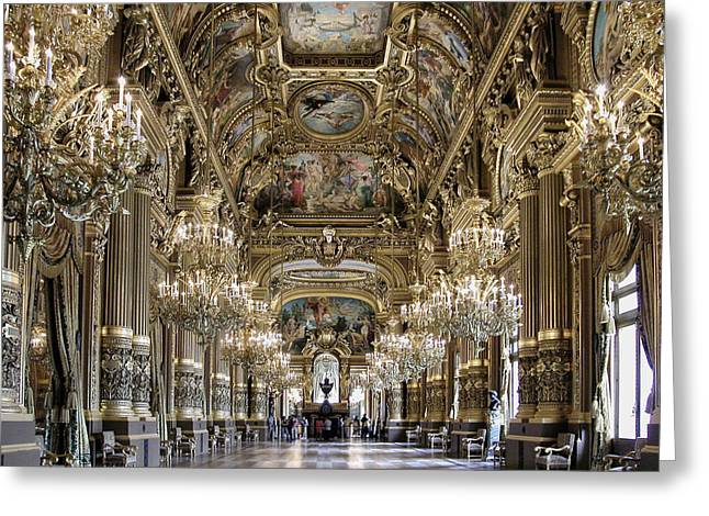 Palais Garnier Grand Foyer Greeting Card