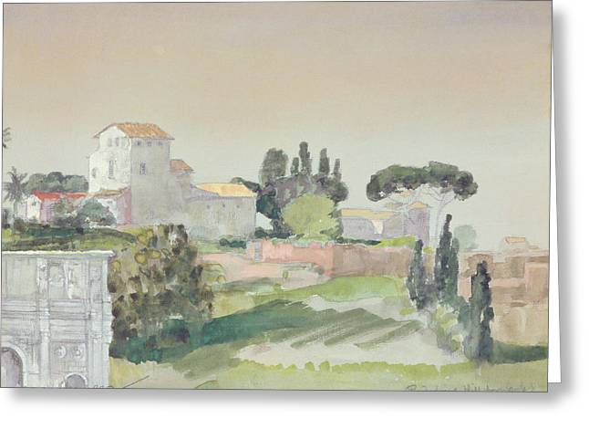 Palatine Hill From The Colosseum Greeting Card by Arthur Bowen Davies