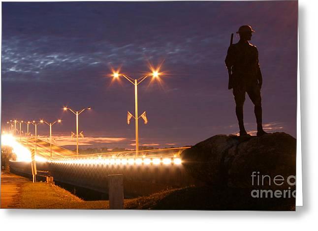 Palatka Memorial Bridge Doughboy Greeting Card