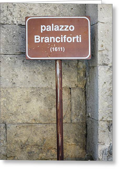 palazzo Branciforte 1611 Greeting Card