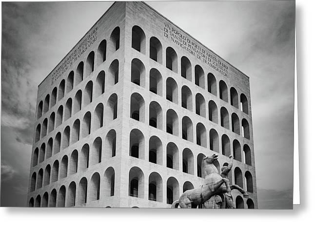 Palazzo Della Civilta Italiana Greeting Card
