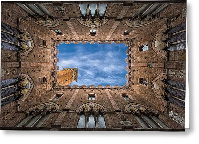 Palazzo Pubblico - Siena - Nv Greeting Card by Frank Smout Images