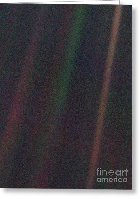 Pale Blue Dot, Voyager 1 Image Greeting Card
