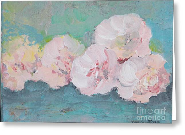 Pale Pink Peonies Greeting Card