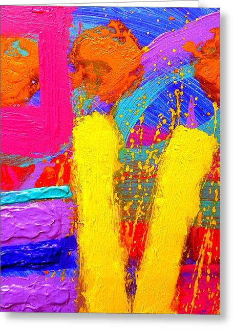 Abstract Movement Greeting Cards - Palimpsest IX Greeting Card by John  Nolan