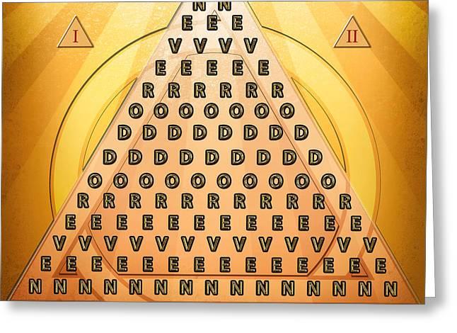 Palindrome Pyramid V3-abstract Greeting Card