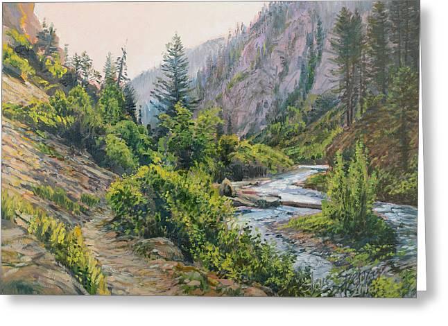 Palisades Creek  Greeting Card by Steve Spencer