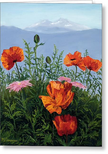 Pallet Knife Poppies Greeting Card