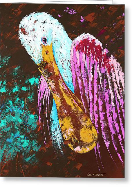 Pallet Knife Spoonbill Greeting Card