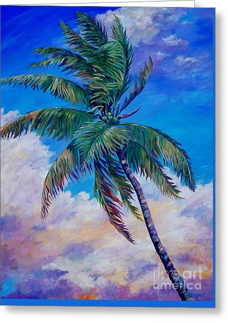 Palm And Clouds Greeting Card by John Clark