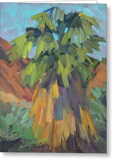 Greeting Card featuring the painting Palm At Santa Rosa Mountains Visitors Center by Diane McClary