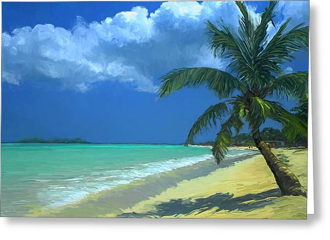 Palm Beach In The Keys Greeting Card