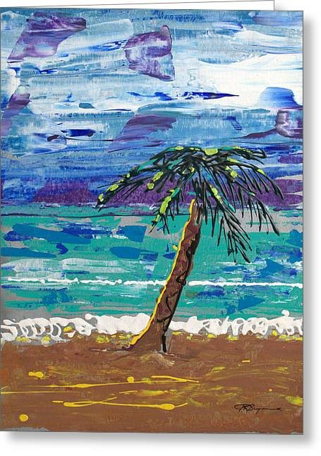 Greeting Card featuring the painting Palm Beach by J R Seymour
