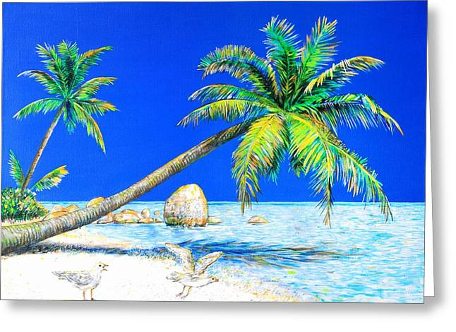 Palm Beach Number Five Greeting Card by Daniel House