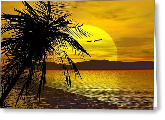 Palm Beach Greeting Card by Robert Orinski