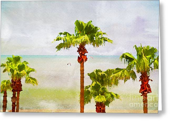 Palm Breeze Greeting Card