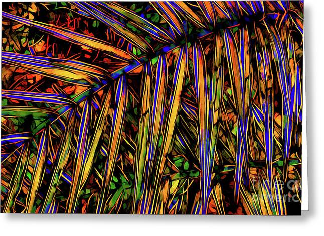 Palm Frond Batik Greeting Card