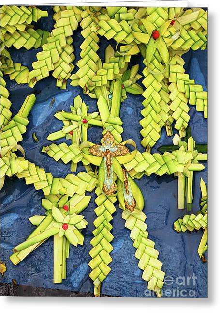 Palm sunday greeting cards page 2 of 9 fine art america palm frond crosses for palm sunday greeting card m4hsunfo