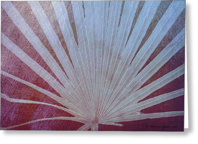 Palm Frond-rust Greeting Card by Marvin Spates