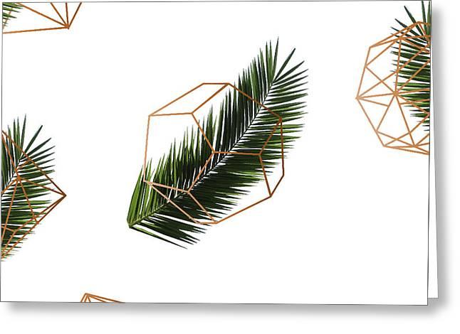Palm Geometry Greeting Card by Uma Gokhale