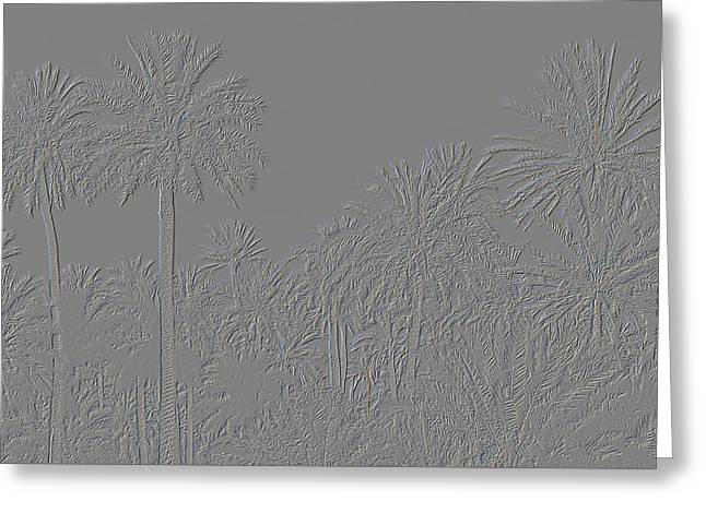 Palm Grove Greeting Card by Tetyana Kokhanets