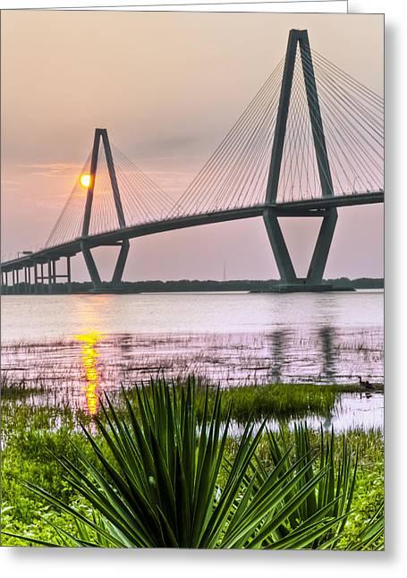 Palm Harbor Sunset - Charleston Sc Greeting Card by Drew Castelhano
