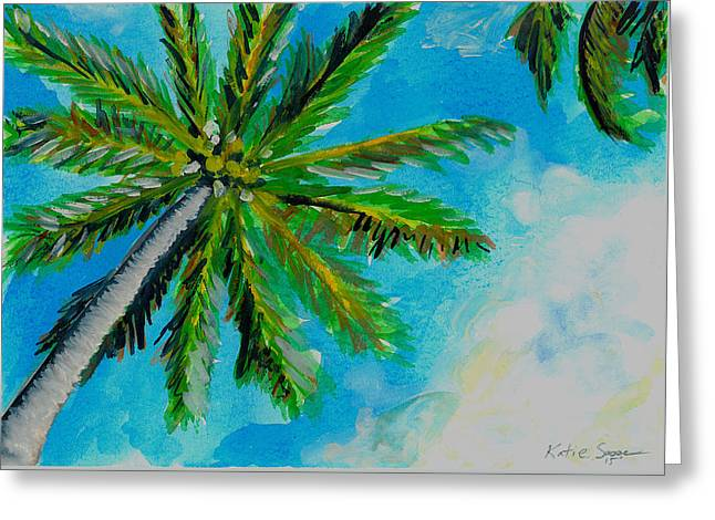 Palm In The Sky Greeting Card