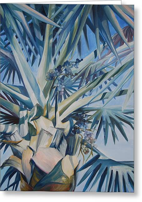 Palm Greeting Card by Katherine  Fyall