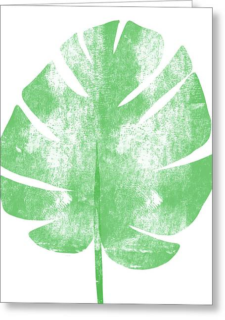 Palm Leaf- Art By Linda Woods Greeting Card