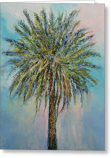Palm Greeting Card by Michael Creese