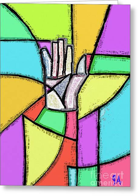 Palm Of Opportunity And Fate Greeting Card by Jeremy Aiyadurai