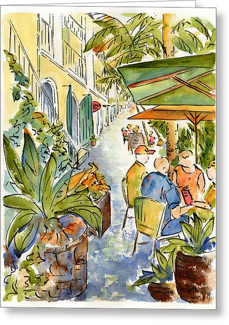 Palm Passage Greeting Card by Pat Katz