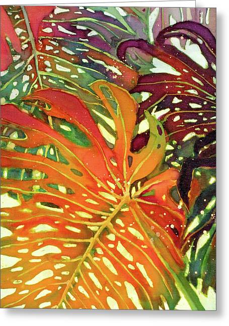 Palm Patterns 2 Greeting Card by Deborah Younglao