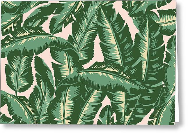 Palm Print Greeting Card by Lauren Amelia Hughes