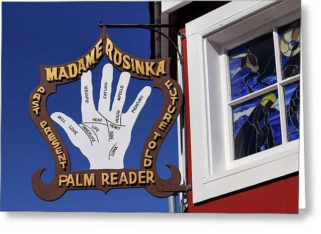 Palm Reader Greeting Card