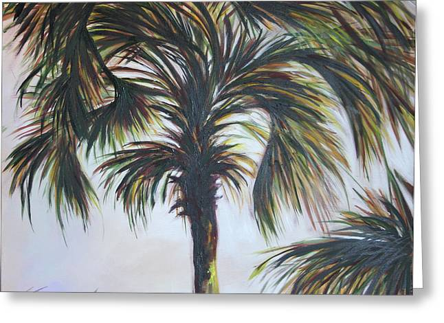 Palm Silhouette Greeting Card by Michele Hollister - for Nancy Asbell